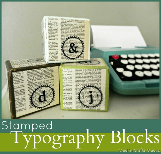 Stamped Typography Block