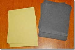 yellow and black construction paper