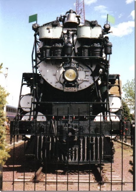 Great Northern S-2 4-8-4 #2584 at Havre, Montana in May 2003