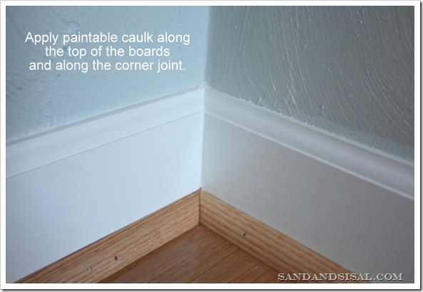caulking baseboards