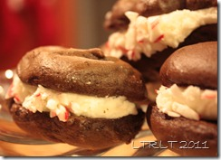 Chocolate Whoopie Pies Peppermint Filling Crushed Candy Canes