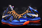 nike lebron 10 ps elite blue black 1 05 Release Reminder: Nike LeBron X P.S. Elite Superhero