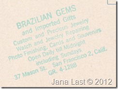 Brazilian Gems Giftshop Postcard Stamp