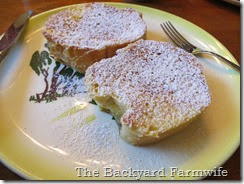 strawberry cream cheese stuffed French toast - The Backyard Farmwife