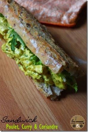 Sandwich Poulet, Curry et Coriandre 2