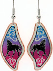 Equestrian Jewelry. Colorful Horse Earrings
