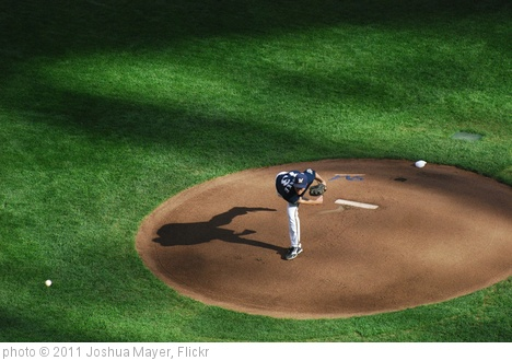 'First Pitch by Zack Greinke' photo (c) 2011, Joshua Mayer - license: http://creativecommons.org/licenses/by-sa/2.0/