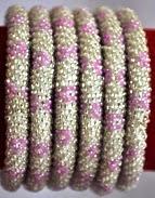 rollover bracelet silver pink