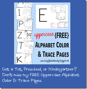 free printable Alphabet Color and Trace Pages Preschool