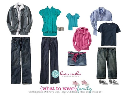 Teal, pink, gray