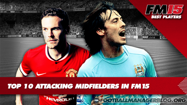 Top 10 Attacking Midfielders Centre in FM15