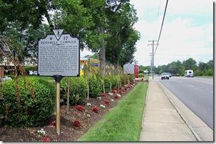 Peninsula Campaign marker W-37 along Route 60 in James City Co., VA