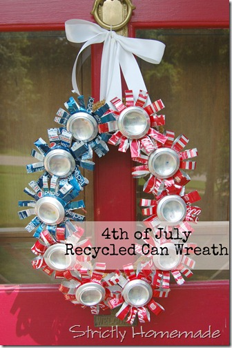 Recycled Can Wreath