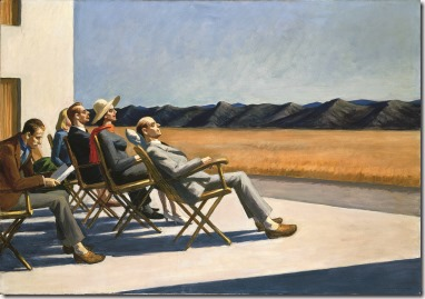 Hopper, Edward (1882-1967): People in the Sun. 1960. . Washington DC, Smithsonian American Art Museum, Washington DC *** Permission for usage must be provided in writing from Scala. May have restrictions - please contact Scala for details. ***