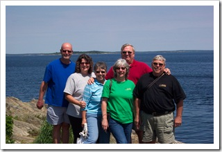 With Mike & Peggy and Darrell & Judy at Land's End