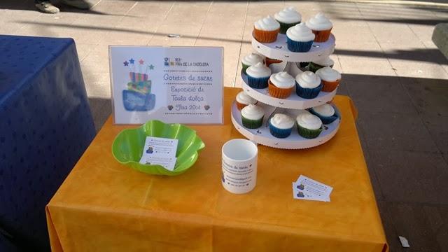 Cupcakes Gotetes de sucre stand taula