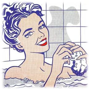 Mujer en el baño. Roy Lichestein 1963