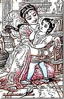 [Damodara with Yashoda]