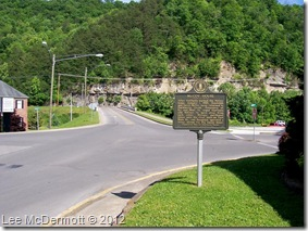 McCoy House marker 2145 in Pikeville, KY near Big Sandy River.