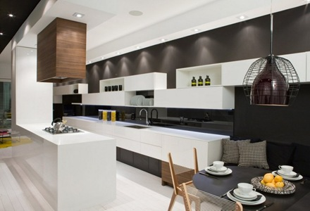 cocina-diseño-contemporano-Townhouse-Toronto-Canada