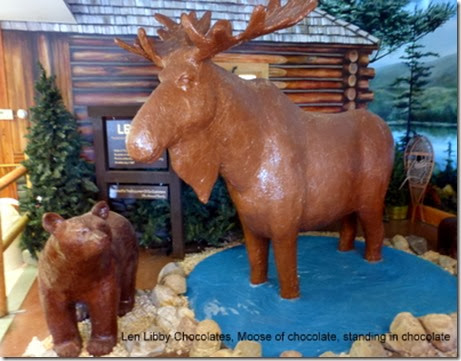 Len Libby Chocolates, Moose of chocolate, standing in chocolate