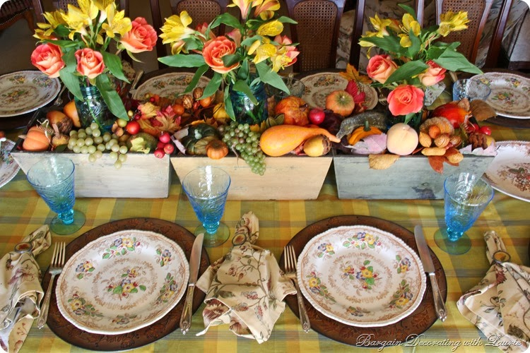 bargain decorating with laurie thanksgiving tablescapes
