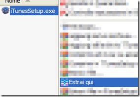 Avviare estrazione applicazioni dal file di installazione di iTunes