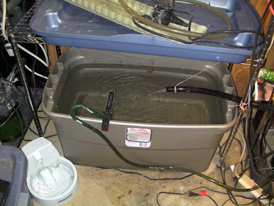 Plastic tote as a sump