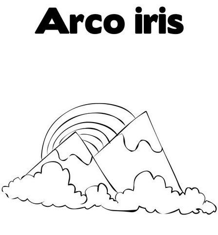 DIBUJOS DE ARCO IRIS PARA COLOREAR