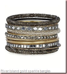 gold sparkle mixed pack of bangles