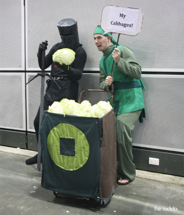 Supanova Sydney 2013 Cosplay - Black Knight and Cabbage Merchant Man from Avatar