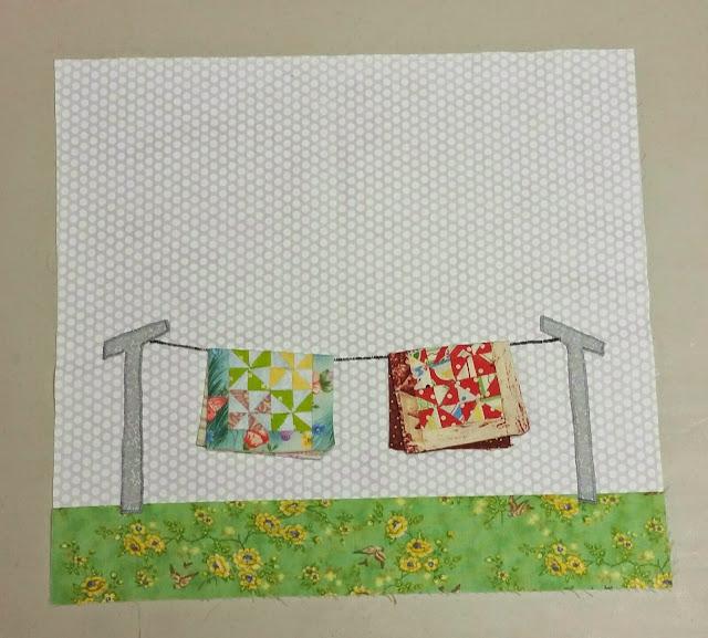 Clothesline Block - Quilter's Garden