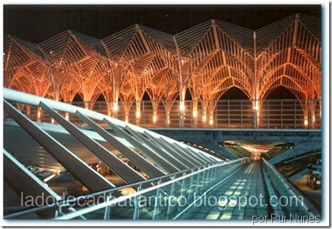 Imagem da Gare do Oriente, Parque das Nações, Lisboa, do arquiteto valenciano Santiago Calabrava