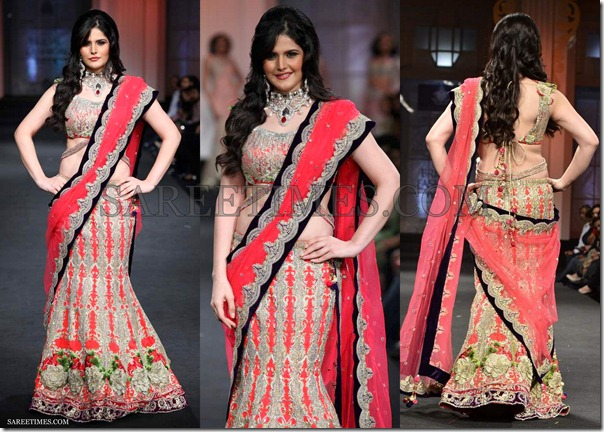 Zarine_Khan_Shane_Falguni_Saree