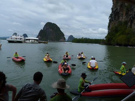 Imagini Thailanda: barci canoe