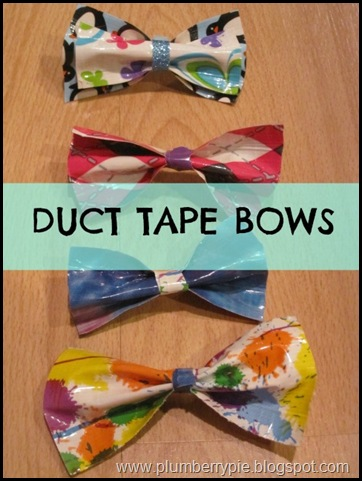 DUCT TAPE HAIR BOWS plumberry pie