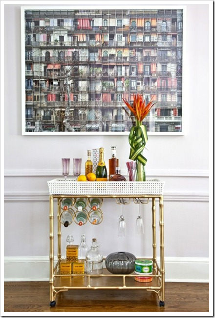 bar carts the glitter guide