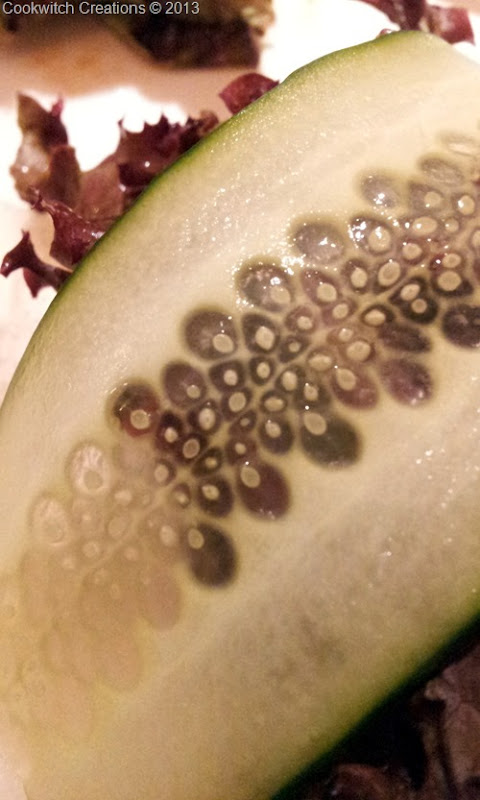 Very pretty, paper thin cucumber