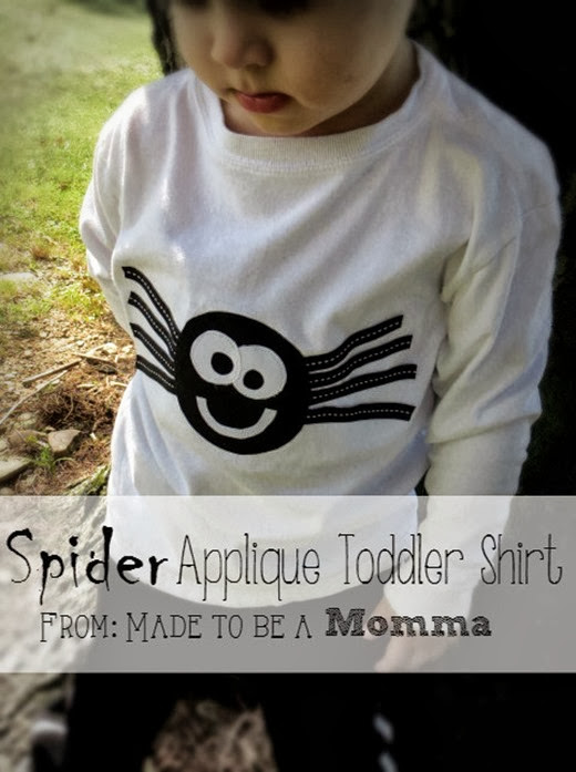 spider applique toddler shirt