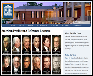 Use this website with your class to help guide research on one or many of the US presidents.