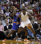 lebron james nba 121206 mia vs nyk 08 LeBron James Nears 2nd Triple Double, Wears Lavas in a Loss