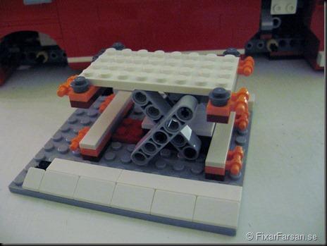 Höjbart tak konstuktion Lego 10220 Volkswagen T1 Camper Van Bilder