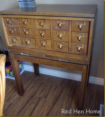 Red Hen Home card catalog before