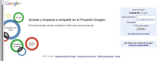 Google+ Plus Iniciar sesión imagen 1