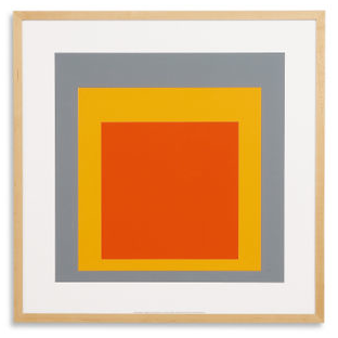 A frame within a frame, within another frame -- great color and design to this piece. 'Homage to the Square' by Josef Albers. (roomandboard.com)