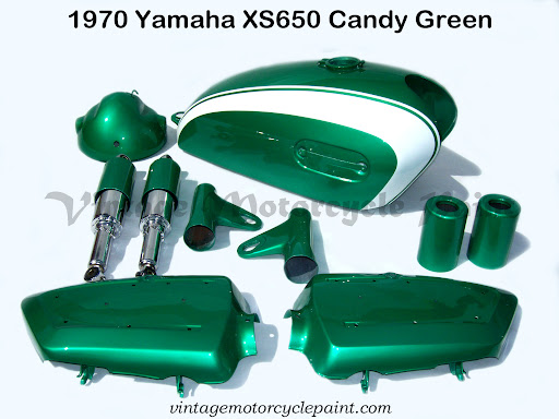1970 Yamaha XS 650 Candy Green