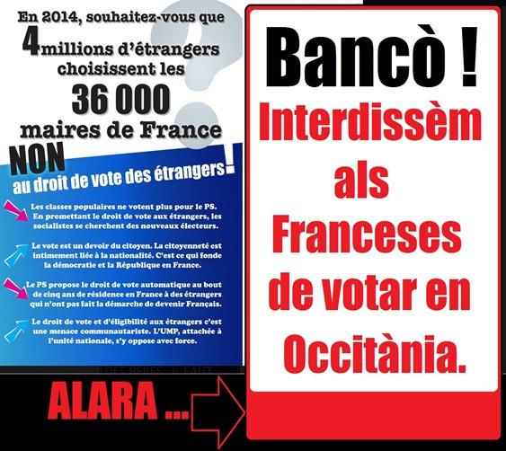 Interdissèm als Franceses de votar en Occitània.