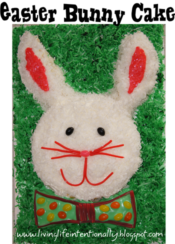 How to make an easter bunny cake step by step #recipes #easter