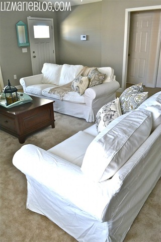 white ikea couches
