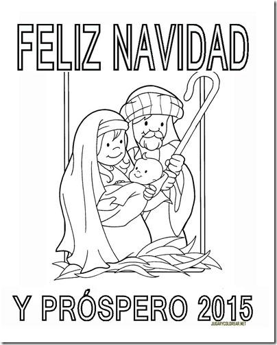 FELIZ NAVIDAD Y PROSPERO AÑO NUEVO 2015 COLOREAR 2